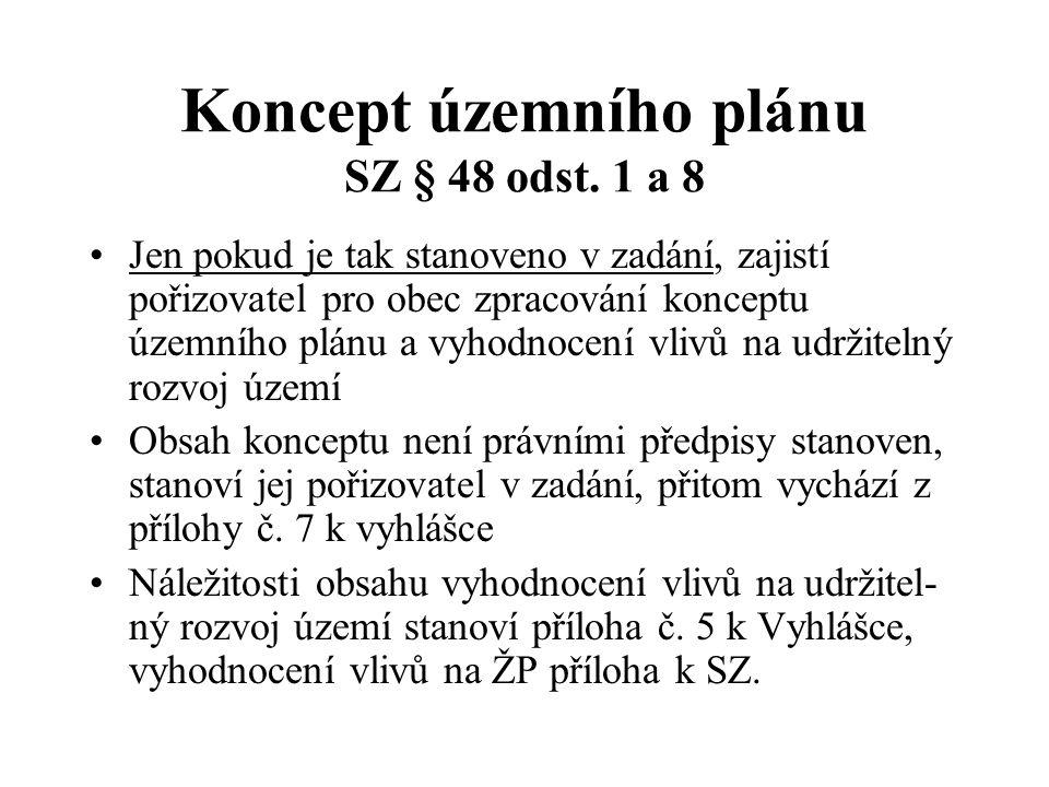 Koncept územního plánu SZ § 48 odst.