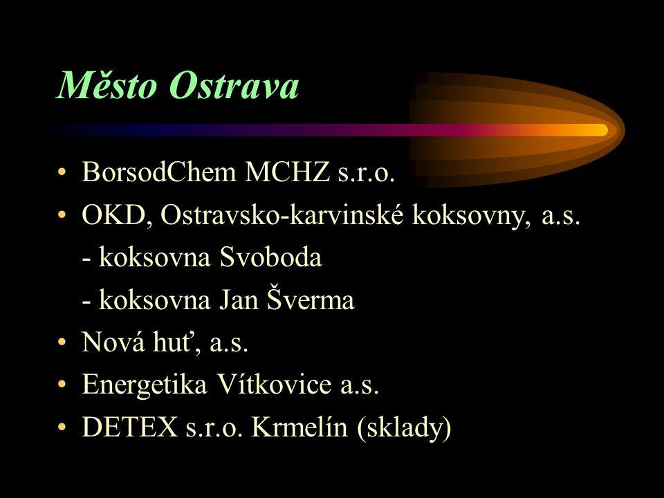"""Zařazení do skupiny """"B"""" Město Ostrava Okres Frýdek – Místek Okres Karviná Okres Opava"""