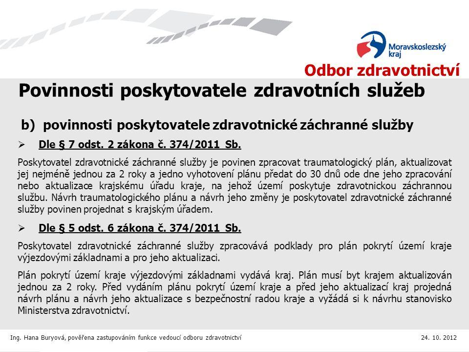 Odbor zdravotnictví Statistika k 22.10.2012 OkresPodánoOčekáváme cca Bruntál a Nový Jičín283560 Frýdek- Místek237390 Karviná304360 Opava191400 Ostrava4971000