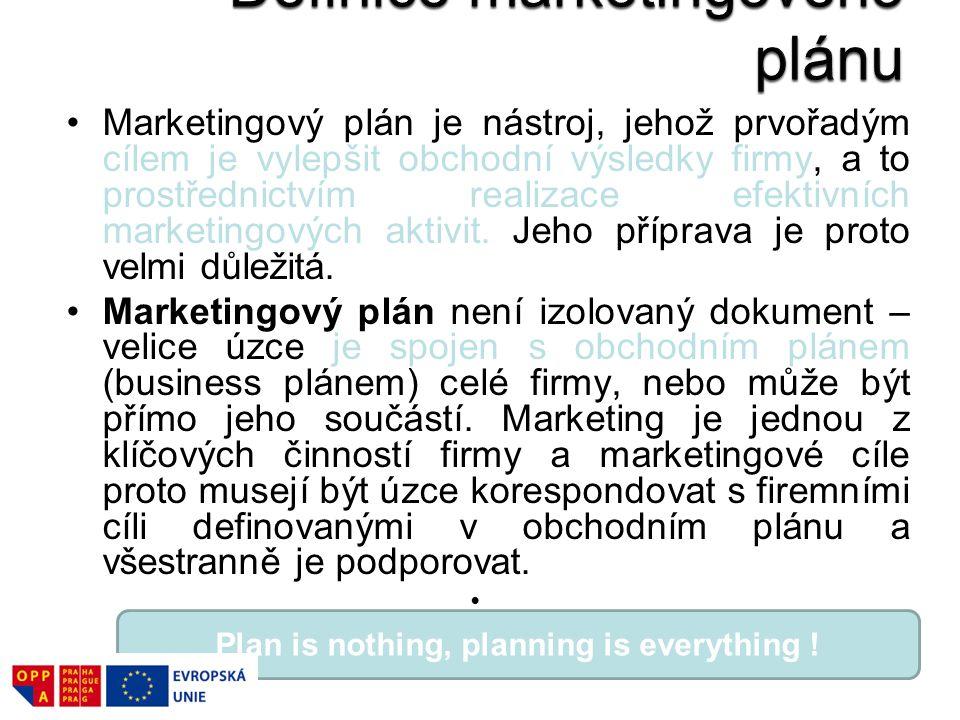 Marketingový plán je nástroj, jehož prvořadým cílem je vylepšit obchodní výsledky firmy, a to prostřednictvím realizace efektivních marketingových akt