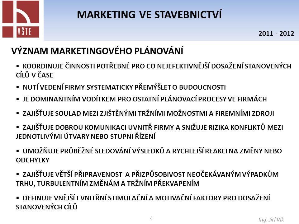 45 MARKETING VE STAVEBNICTVÍ Ing.Jiří Vlk 2011 - 2012 2.4.2.