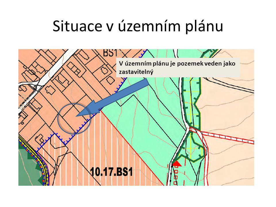 Situace v katastru nemovitostí V katastru nemovitostí je pozemek veden jako trvalý travní porost