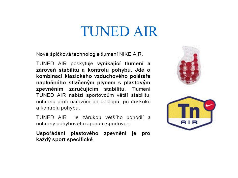 TUNED AIR Nová špičková technologie tlumení NIKE AIR.