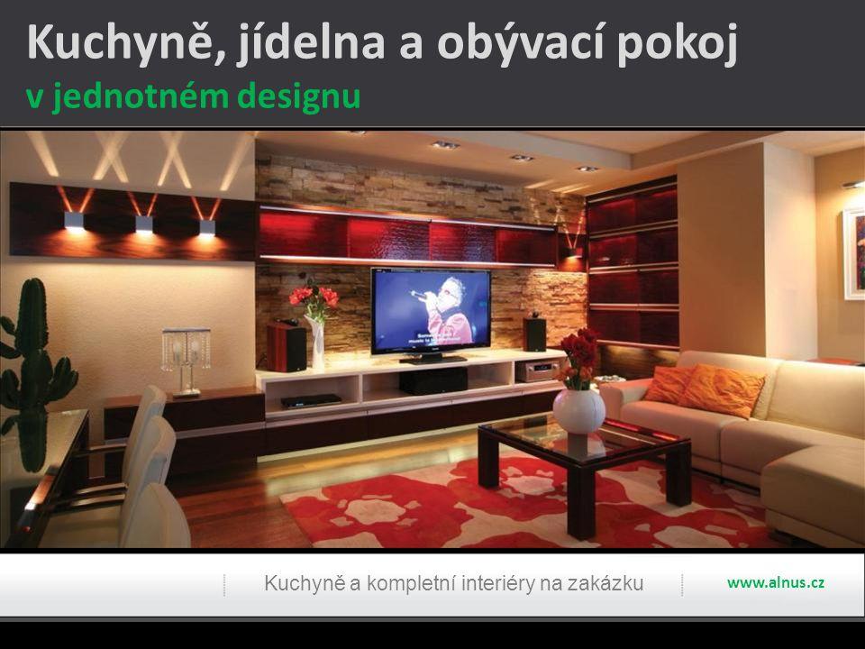 www.alnus.cz Kuchyně, jídelna a obývací pokoj v jednotném designu