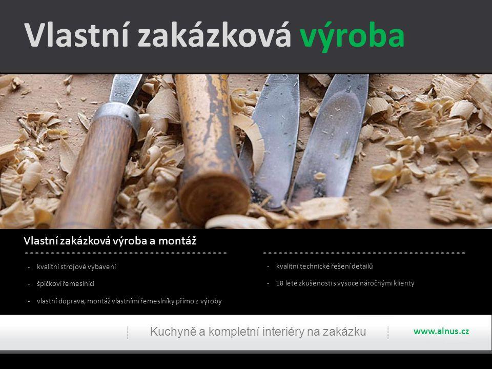 Ukázky realizací ložnice Kuchyně a kompletní interiéry na zakázku www.alnus.cz