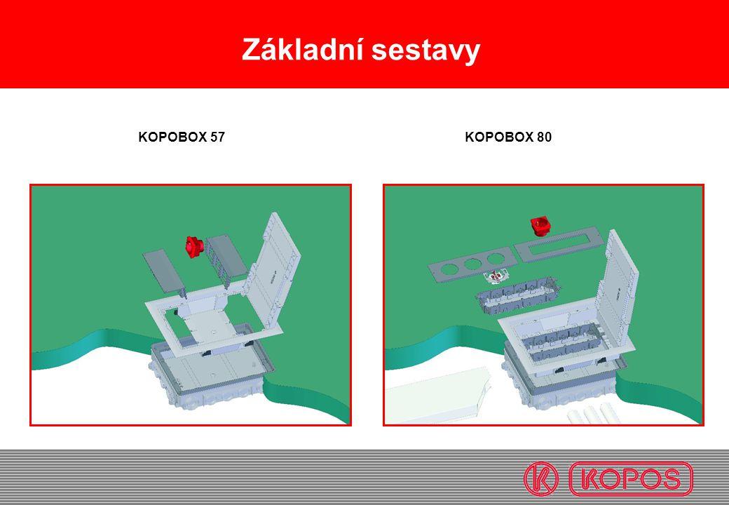 Základní sestavy KOPOBOX 57KOPOBOX 80