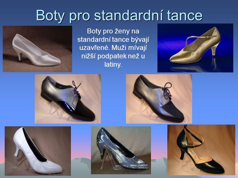 Boty pro standardní tance Boty pro ženy na standardní tance bývají uzavřené.