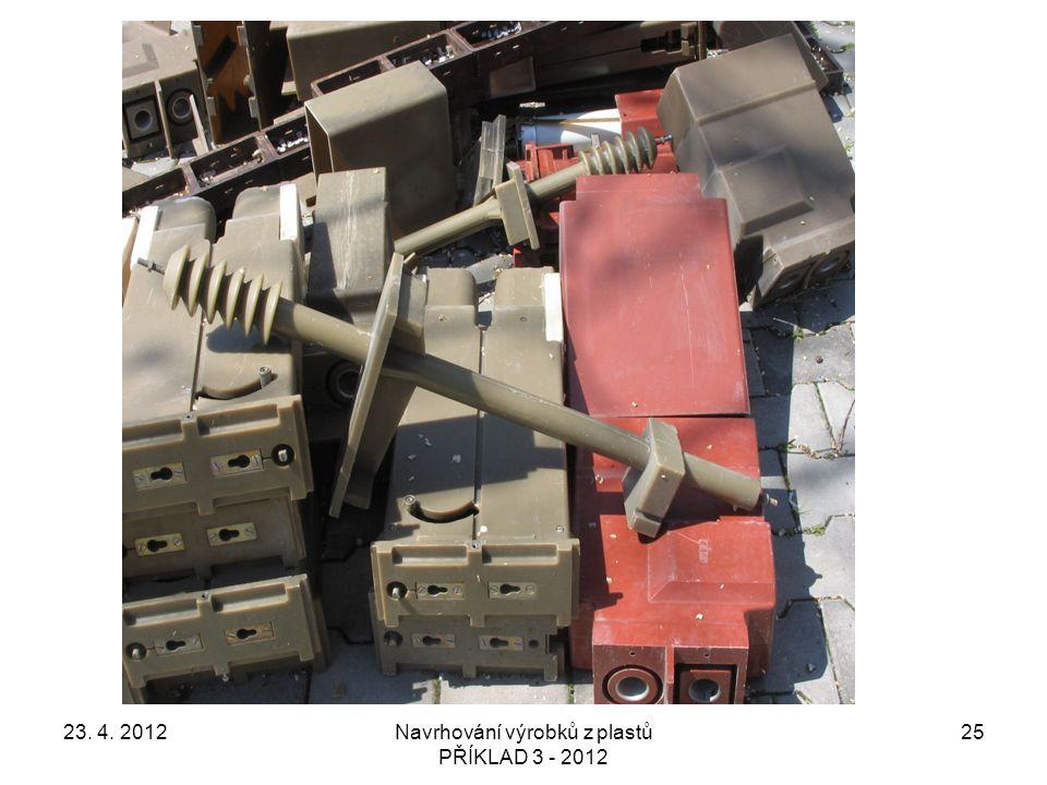 23. 4. 2012Navrhování výrobků z plastů PŘÍKLAD 3 - 2012 25