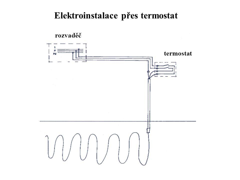 Elektroinstalace přes termostat rozvaděč termostat