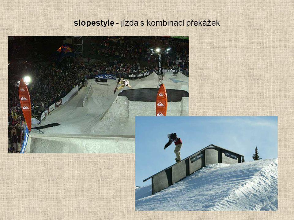 slopestyle - jízda s kombinací překážek