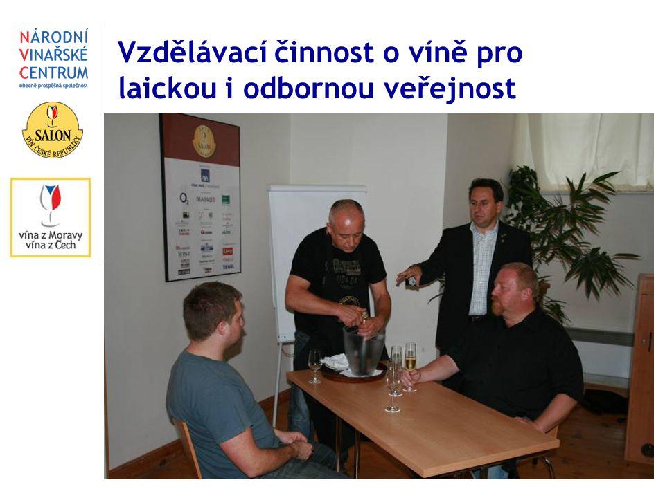 Vzdělávací činnost o víně pro laickou i odbornou veřejnost