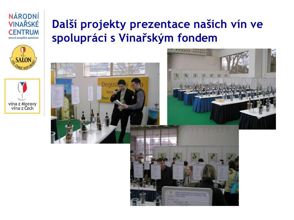 Další projekty prezentace našich vín ve spolupráci s Vinařským fondem