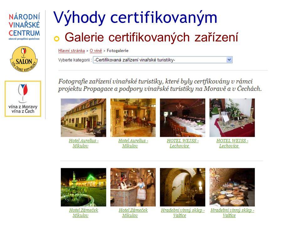 V ýhody certifikovaným Galerie certifikovaných zařízení