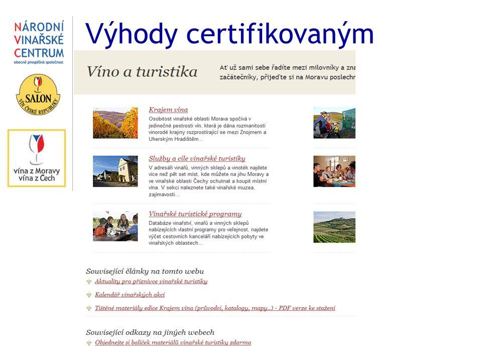 V ýhody certifikovaným