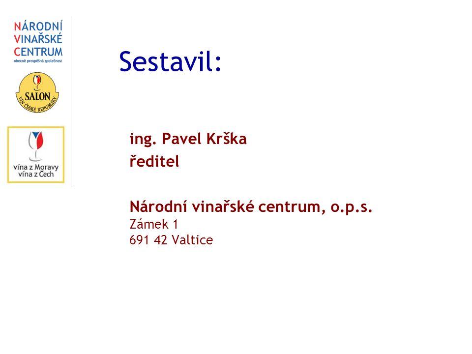 Sestavil: ing. Pavel Krška ředitel Národní vinařské centrum, o.p.s. Zámek 1 691 42 Valtice