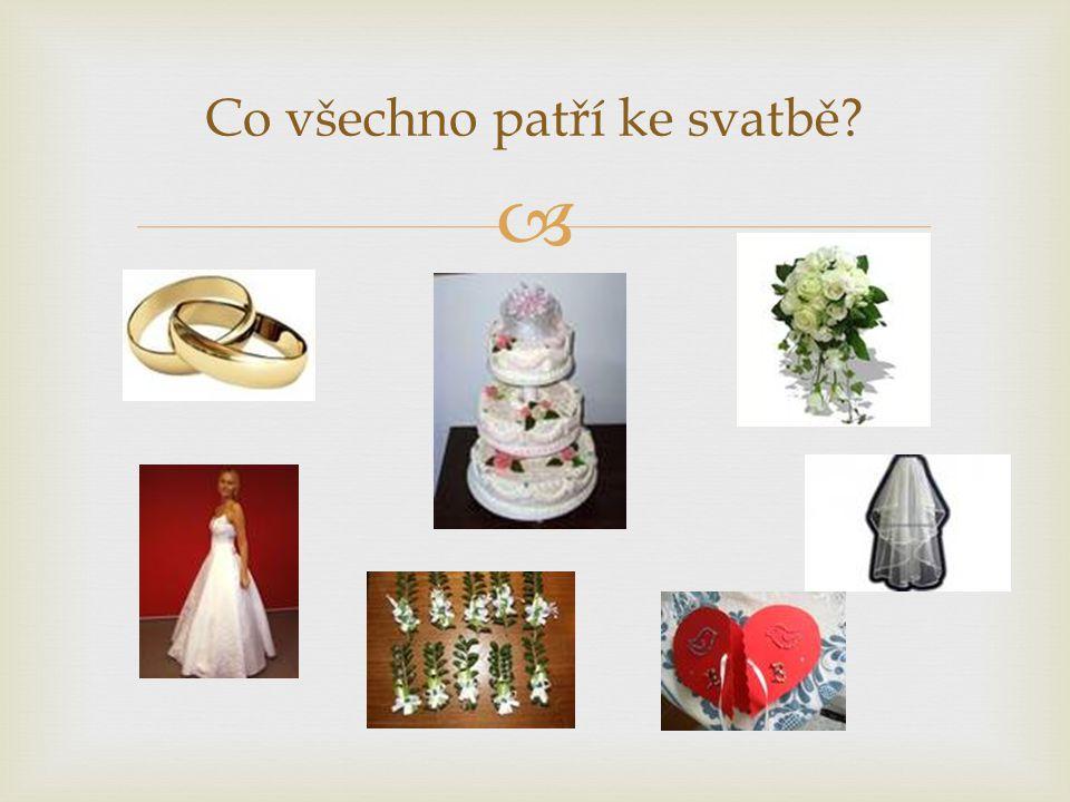  Co všechno patří ke svatbě?