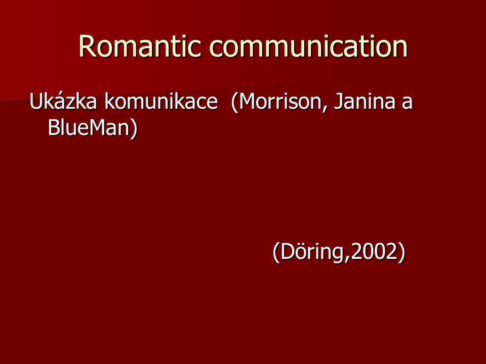 Romantic communication Ukázka komunikace (Morrison, Janina a BlueMan) (Döring,2002) (Döring,2002)