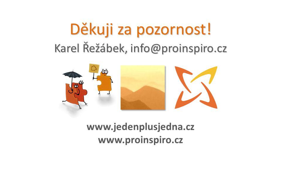 Karel Řežábek, info@proinspiro.cz Děkuji za pozornost! www.jedenplusjedna.cz www.proinspiro.cz