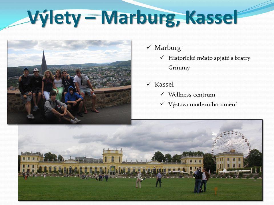Výlety – Marburg, Kassel Marburg Historické město spjaté s bratry Grimmy Kassel Wellness centrum Výstava moderního umění