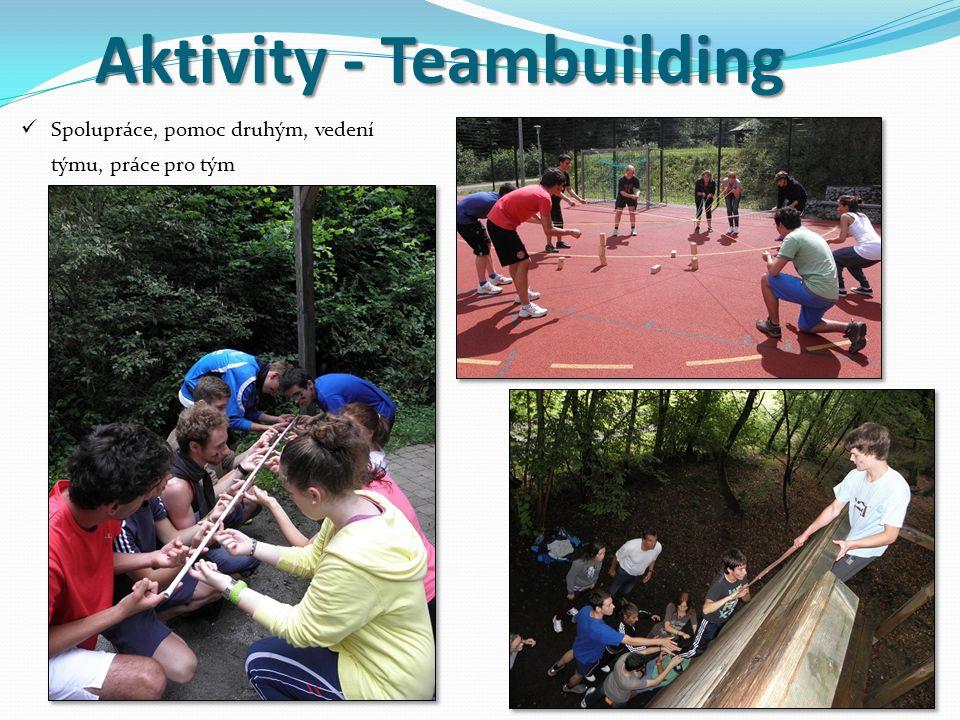 Aktivity - Teambuilding Spolupráce, pomoc druhým, vedení týmu, práce pro tým 5