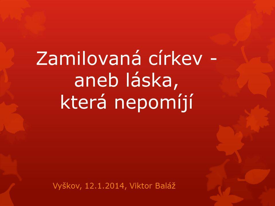 Zamilovaná církev - aneb láska, která nepomíjí Vyškov, 12.1.2014, Viktor Baláž