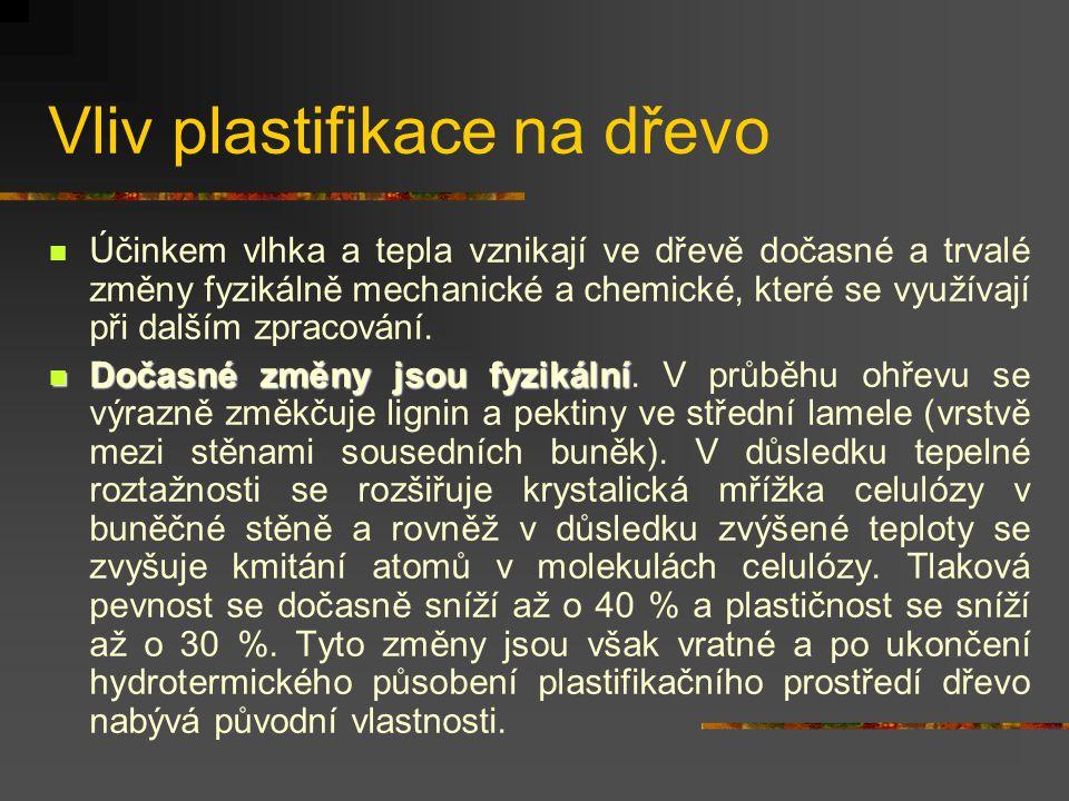 Charakteristika plastifikačního prostředí D) Vysokofrekvenční a ultrazvukový ohřev : Vysokofrekvenční ohřev je dielektrický ohřev, při němž se vysokou