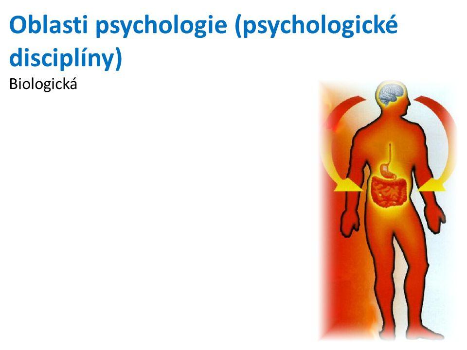 Oblasti psychologie (psychologické disciplíny) Biologická