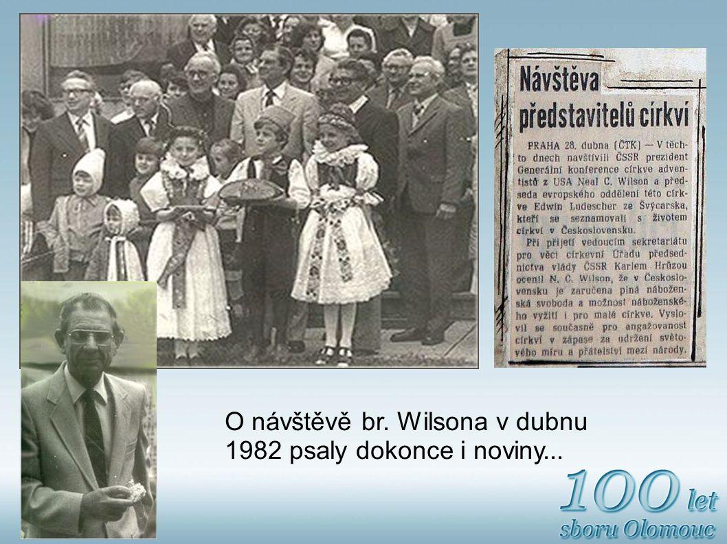 O návštěvě br. Wilsona v dubnu 1982 psaly dokonce i noviny...