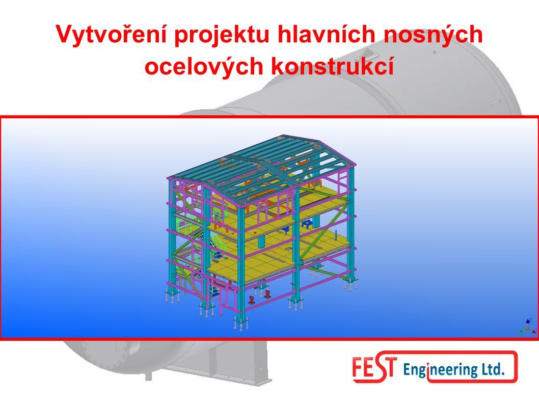 Statické výpočty pro všechny již jmenované hlavní a pomocné ocelové konstrukce