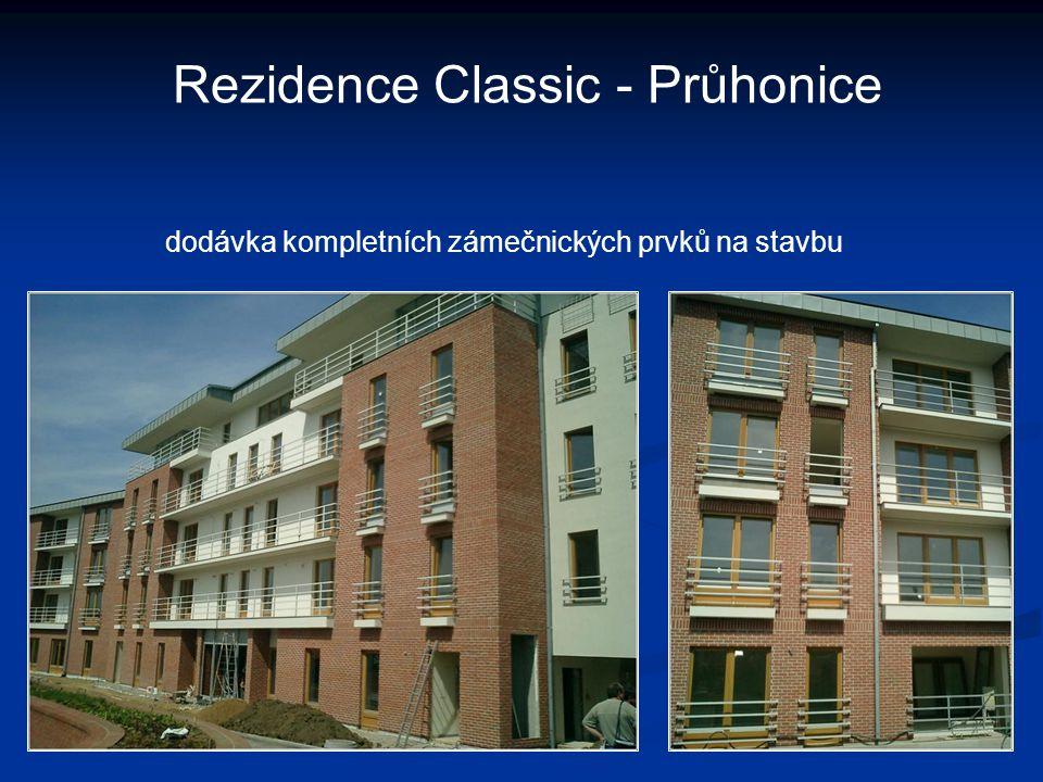Rezidence Classic - Průhonice dodávka kompletních zámečnických prvků na stavbu