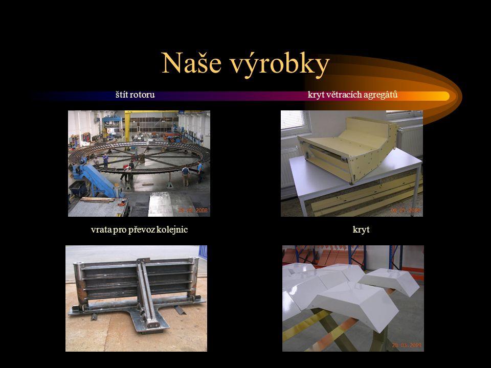 Naše výrobky štít rotorukryt větracích agregátů vrata pro převoz kolejnickryt