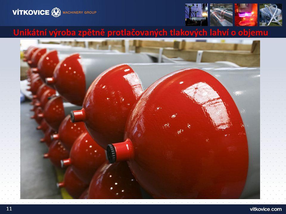 Unikátní výroba zpětně protlačovaných tlakových lahví o objemu 200l 11