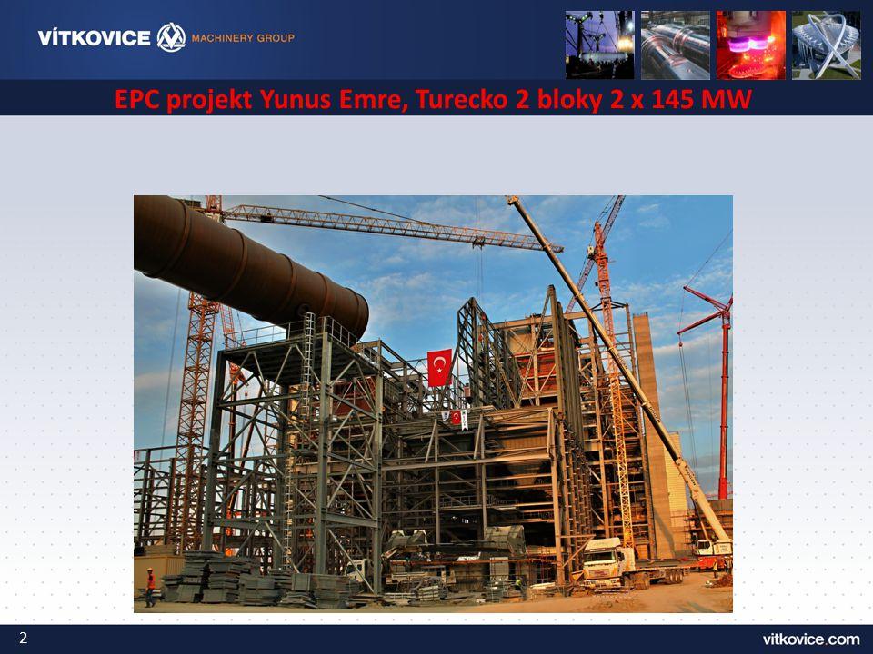 EPC projekt Yunus Emre, Turecko 2 bloky 2 x 145 MW 2