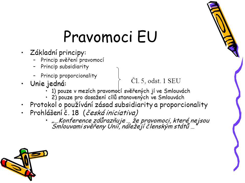 Výlučné pravomoci EU Čl.3 SFEU (id.