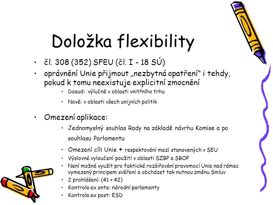 Posílená spolupráce čl.20 SEU (čl. 326-334 SFEU) čl.