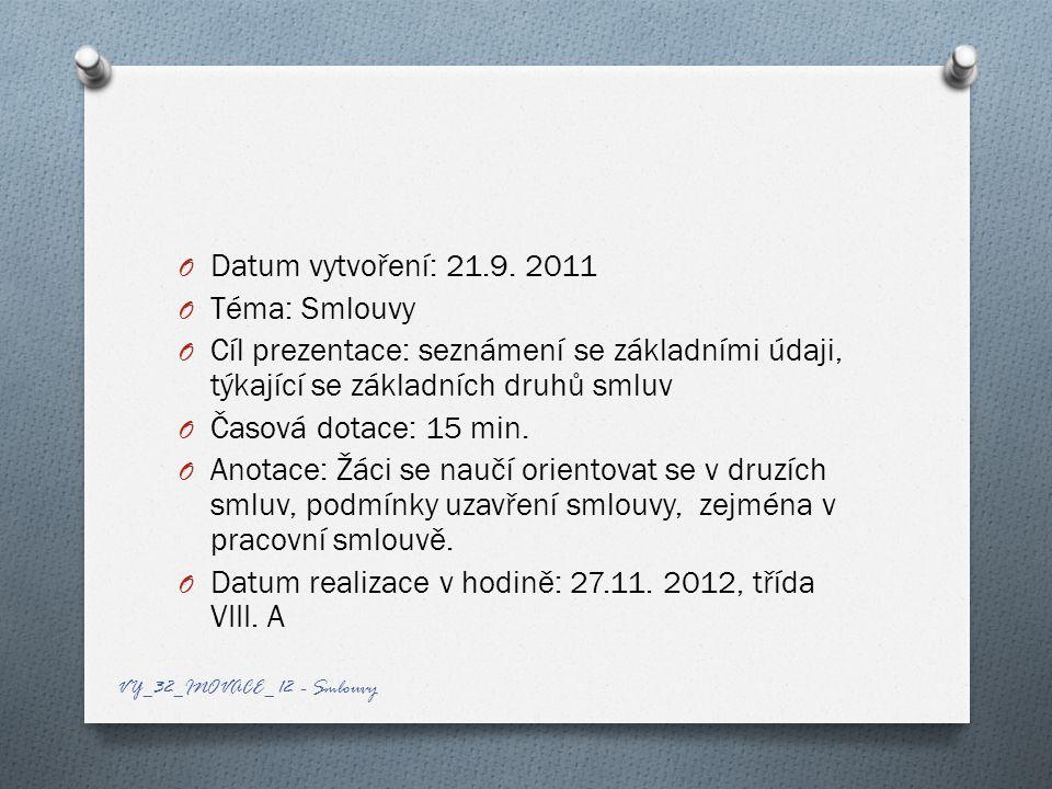 O Datum vytvoření: 21.9.