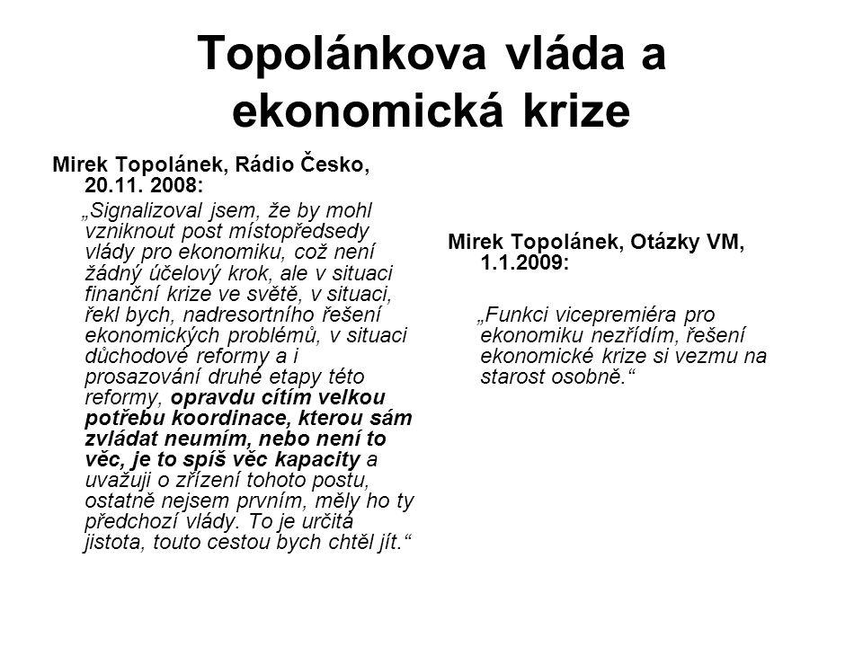 Topolánkova vláda a ekonomická krize Mirek Topolánek, Rádio Česko, 20.11.