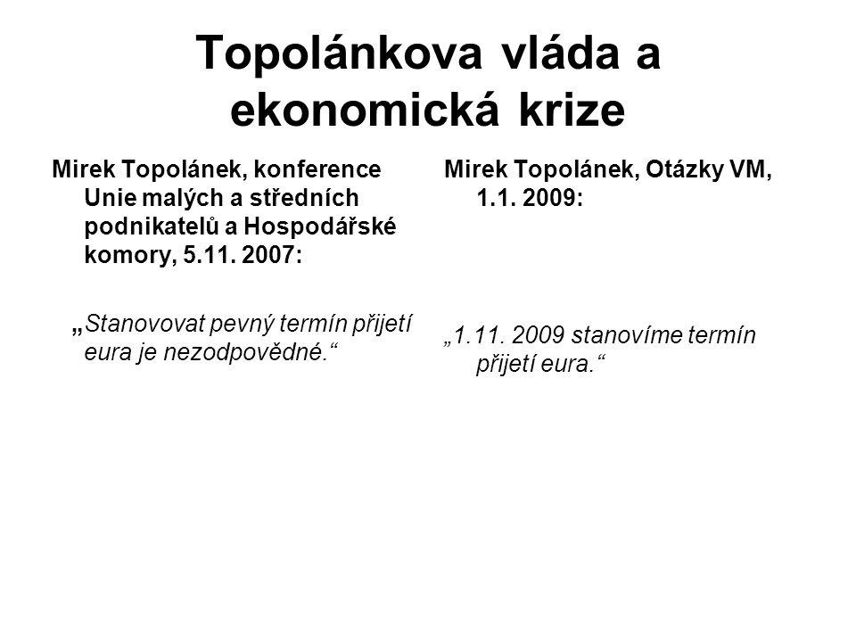 Topolánkova vláda a ekonomická krize Mirek Topolánek, konference Unie malých a středních podnikatelů a Hospodářské komory, 5.11.