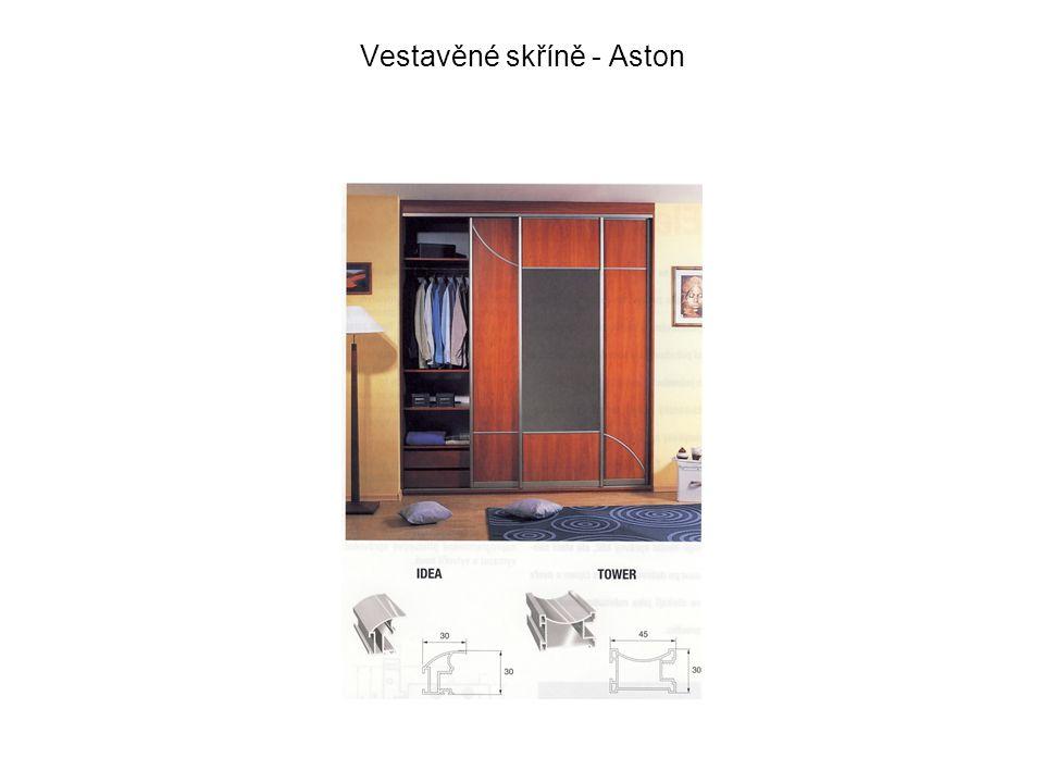 Vestavěné skříně – lištování bok -