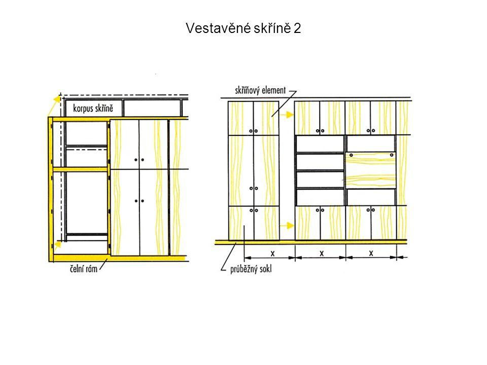 Vestavěné skříně – lištování bok - 2