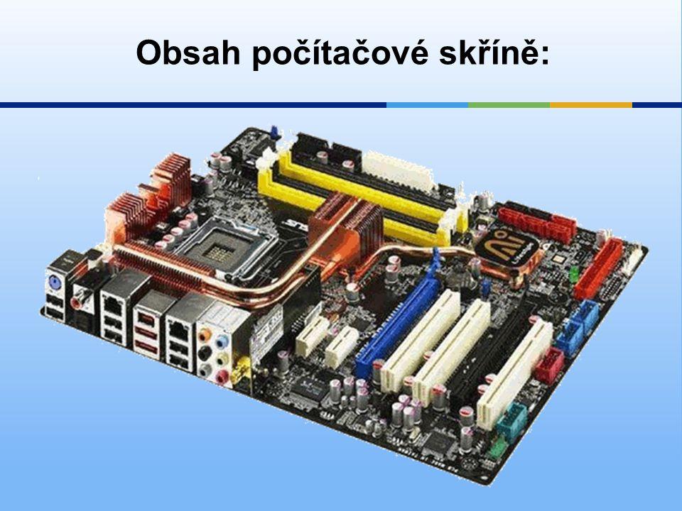 2)Procesor  nejdůležitějších součástka počítače.