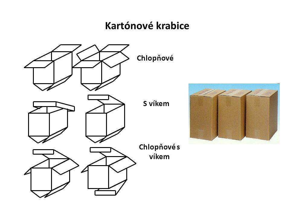 Kartónové krabice Chlopňové S víkem Chlopňové s víkem
