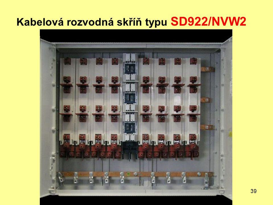 39 Kabelová rozvodná skříň typu SD922/NVW2