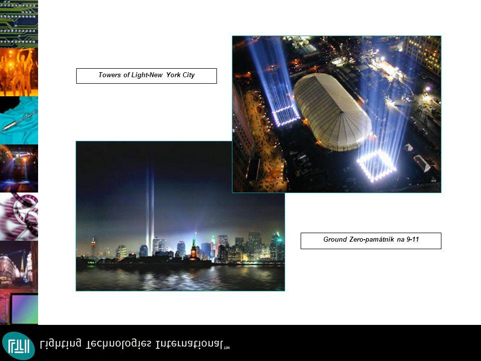 Towers of Light-New York City Ground Zero-památník na 9-11