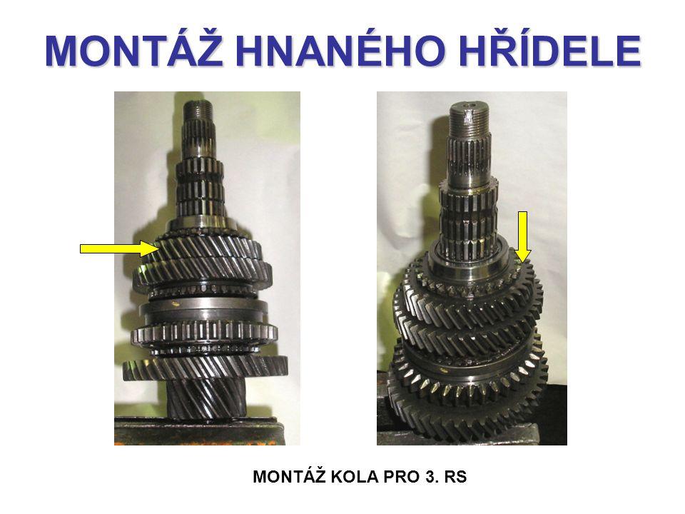 MONTÁŽ HNANÉHO HŘÍDELE MONTÁŽ KOLA PRO 3. RS