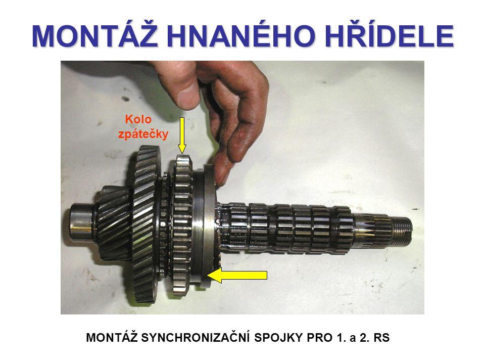 MONTÁŽ HNANÉHO HŘÍDELE MONTÁŽ KOLA PRO 2. RS