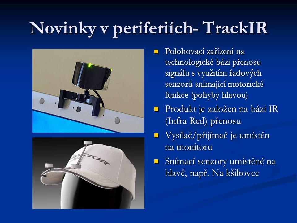 Novinky v periferiích- TrackIR Polohovací zařízení na technologické bázi přenosu signálu s využitím řadových senzorů snímající motorické funkce (pohyb