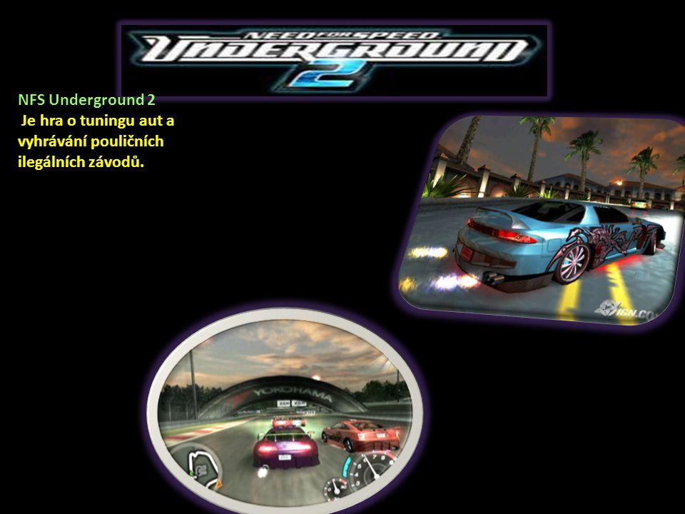 NFS Underground 2 Je hra o tuningu aut a vyhrávání pouličních ilegálních závodů.