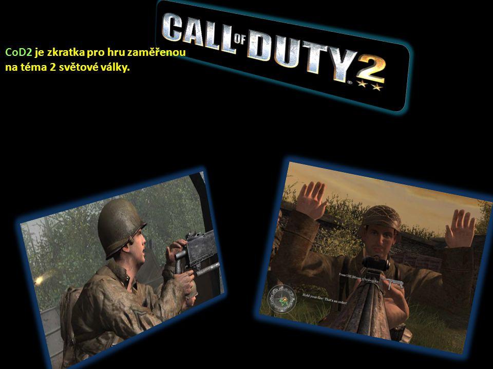 CoD2 je zkratka pro hru zaměřenou na téma 2 světové války.