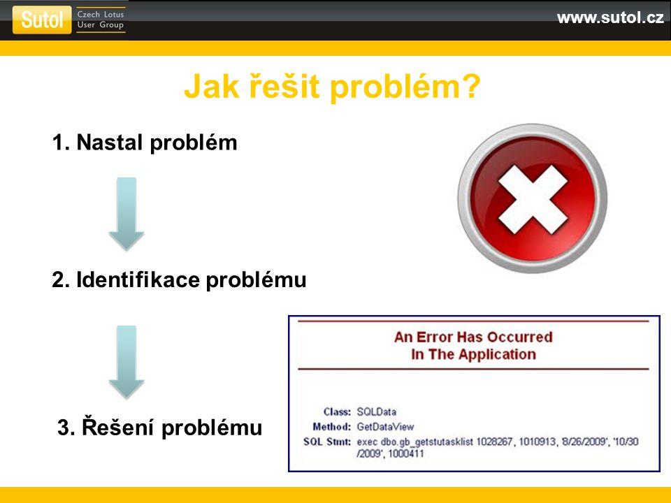www.sutol.cz Jak řešit problém? 1. Nastal problém 2. Identifikace problému 3. Řešení problému